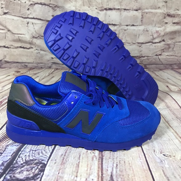 all blue new balance 574